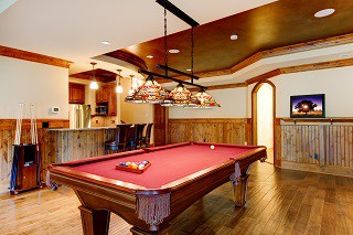 Pool table room sizes in San Francisco