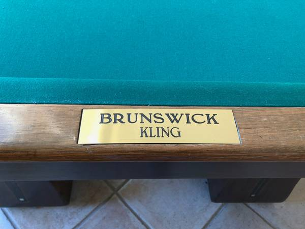 Of Being The Finest Pool Table Ever Made. Height: 32 In. (81.28 Cm) Width:  110 In. (279.40 Cm) Depth: 60 In. (152.40 Cm) Country Of Origin: USA