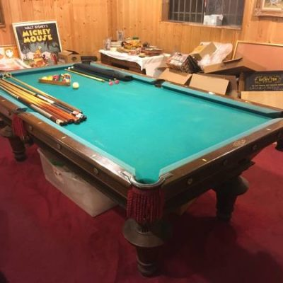 1910 Antique Pool Table (SOLD)